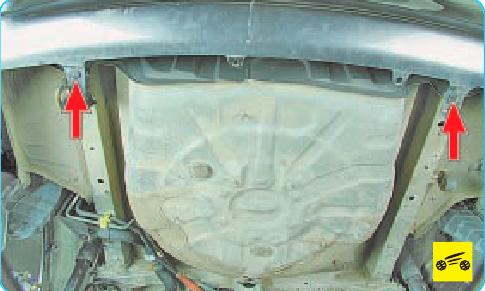 Шестой этап снятия заднего бампера