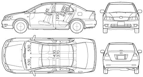 Габариты Toyota Corolla