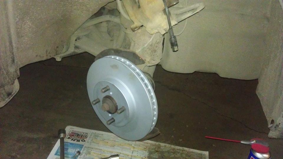 Установленный тормозной диск